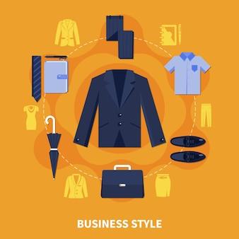 Composición de estilo empresarial