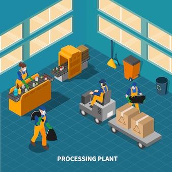 Composición de la fábrica de reciclaje de residuos