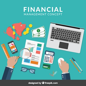 Composición de finanzas con elementos profesionales