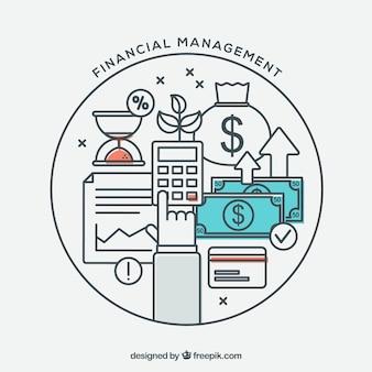 Composición de finanzas con estilo moderno