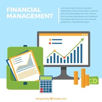 Composición de finanzas con gráficos