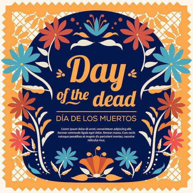 Composición floral del día de los muertos - espacio de copia