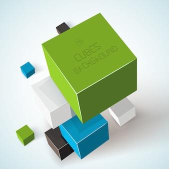 Composición geométrica de cubos