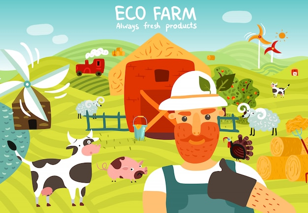Composición de la granja ecológica