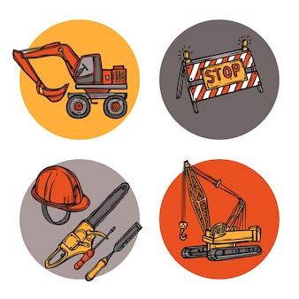 Composición de iconos de concepto de diseño de arquitectura