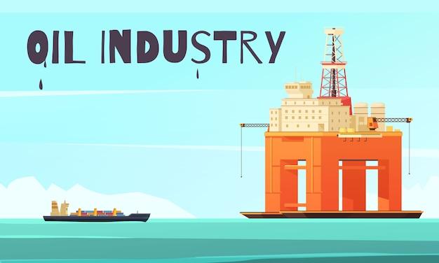 Composición industrial de plataforma costa afuera