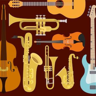 Composición de instrumentos clásicos.
