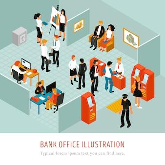 Composición isomérica de la oficina bancaria