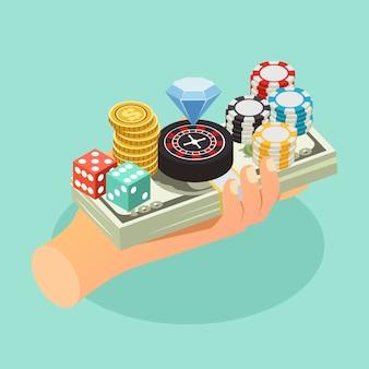 Composición isométrica de casino