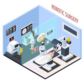 Composición isométrica de cirugía robótica