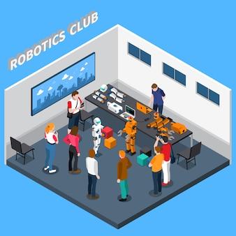 Composición isométrica del club de robótica