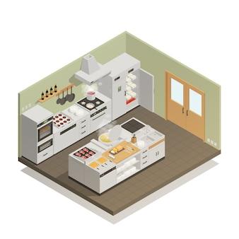 Composición isométrica de cocina