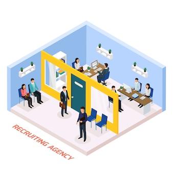 Composición isométrica de contratación de empleo