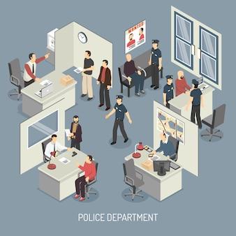 Composición isométrica del departamento de policía