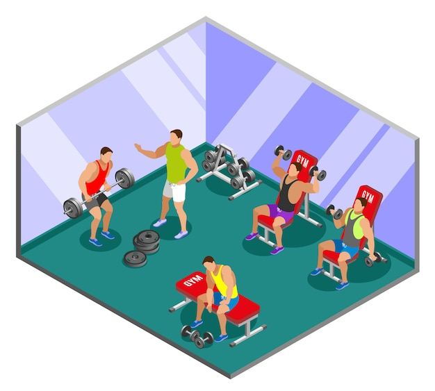 Composición isométrica de entrenamiento de levantamiento de pesas