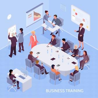 Composición isométrica de formación empresarial