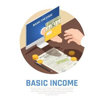 Composición isométrica de ingresos básicos