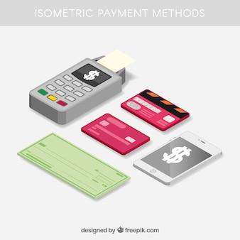 Composición isométrica con métodos de pago