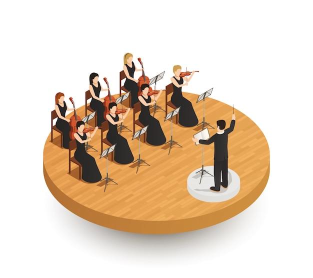 Composición isométrica de orquesta