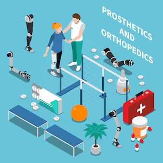 Composición isométrica de prótesis y ortopedia