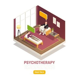 Composición isométrica de la sesión de psicoterapia.