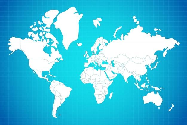 Composición lineal del mapa de la tierra