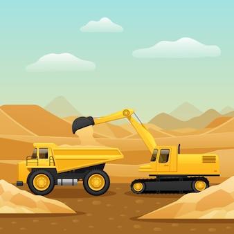 Composición de maquinaria de construcción
