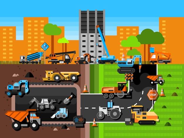 Composición de máquinas de construcción