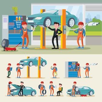 Composición de mecánica automotriz
