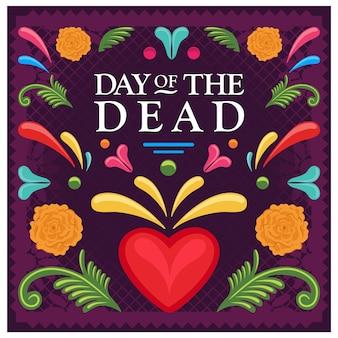 Composición mexicana del día de muertos