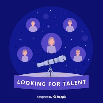 Composición moderna de búsqueda de talento