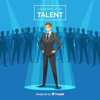 Composición moderna de búsqueda de talentos