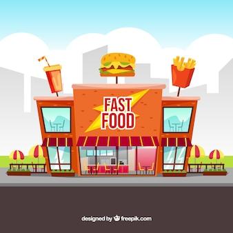 Composición moderna de comida rápida