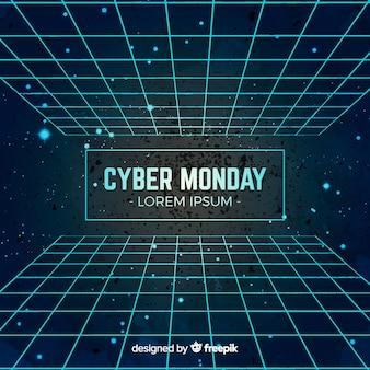 Composición moderna de cyber monday en acuarela