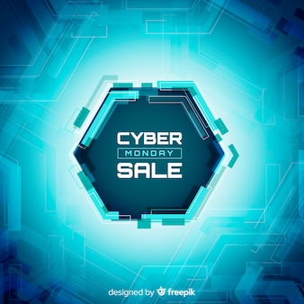 Composición moderna de cyber monday con diseño plano