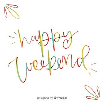 Composición moderna de feliz fin de semana