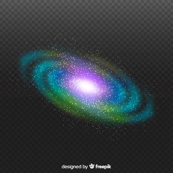 Composición moderna de galaxia