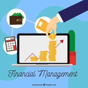 Composición moderna de gestión financiera