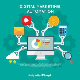 Composición moderna de marketing digital