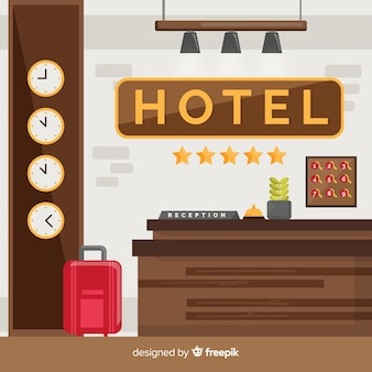 Composición moderna de recepción de hotel