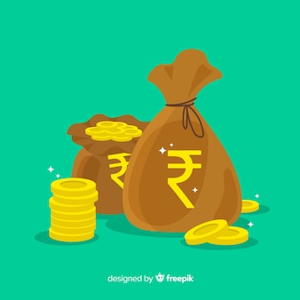 Composición moderna de rupias de la india