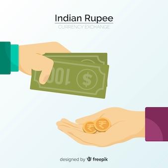 Composición moderna de rupias indias