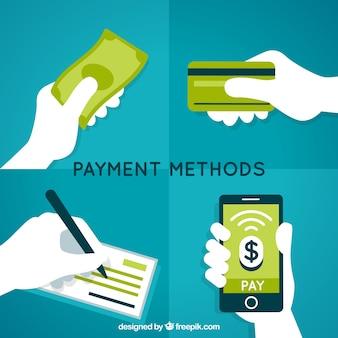 Composición de modos de pago con estilo moderno