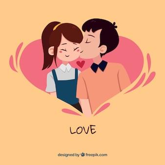 Composición original de amor con estilo moderno