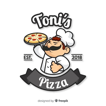 Composición original de pizzería