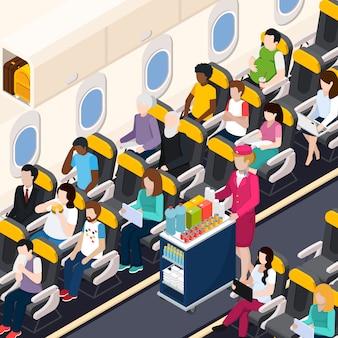 Composición de pasajeros de avión
