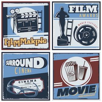 Composición de películas de cine envolvente