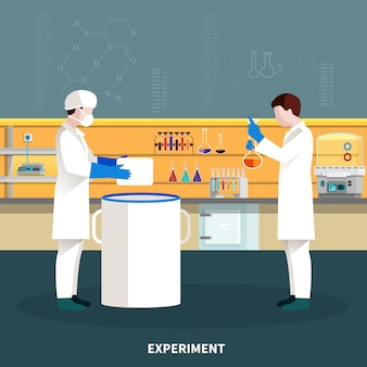 Composición de personas de dos científicos