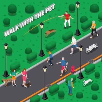 Composición de personas con mascotas