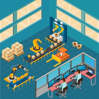 Composición de piso de taller industrial